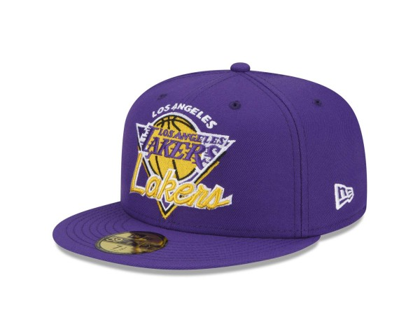 New Era - NBA Los Angeles Lakers 2021 Tip Off 59Fifty Fitted Cap - Lila Ansicht vorne schräg links