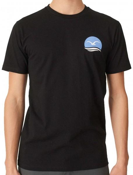 Cleptomanicx - Mocean Basic T-Shirt - Schwarz Vorderansicht
