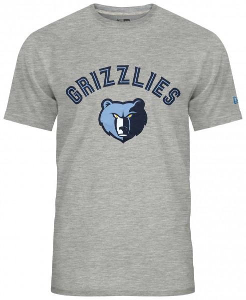 New Era - NBA Memphis Grizzlies Team Logo T-Shirt - Grau Vorderansicht