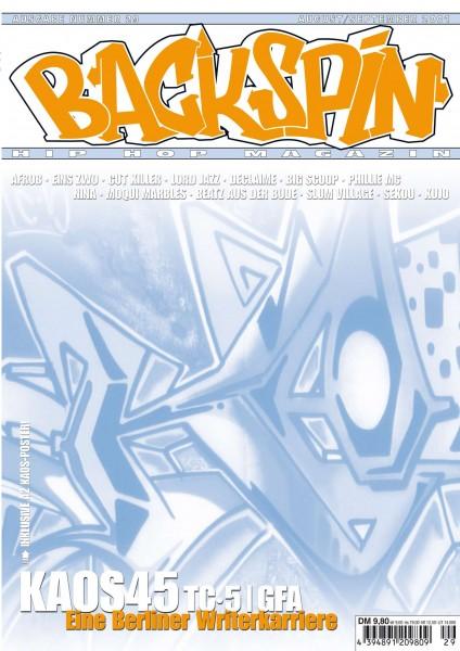 Auf dem Bild ist das Cover zu sehen der BACKSPIN Printausgabe Nummer 29