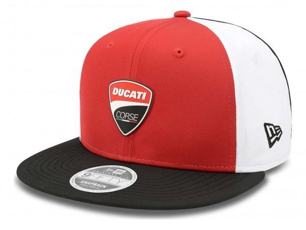 New Era - Ducati Multibadge 9Fifty Snapback Cap - Rot Ansicht vorne schräg rechts