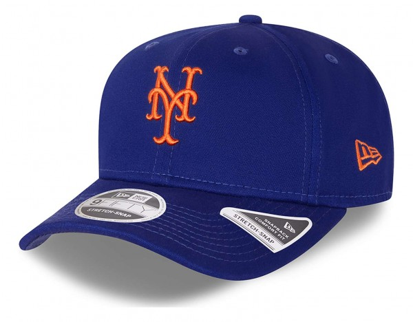 New Era - MLB New York Mets League Essential 9Fifty Snapback Cap - Blau Ansicht vorne schräg links