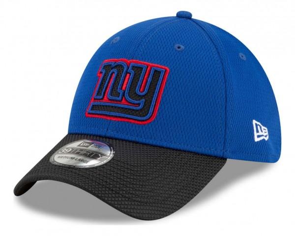 New Era - NFL New York Giants 2021 Sideline Road 39Thirty Stretch Cap - Blau Ansicht vorne schräg links