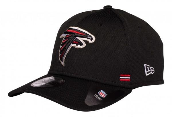 New Era - NFL Atlanta Falcons OnField 2020 Sideline Home 39Thirty Stretch Cap - Schwarz Ansicht vorne schräg links