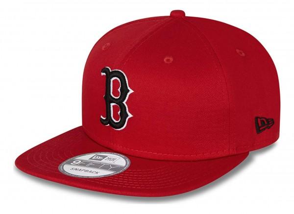 New Era - Boston Red Sox League Essential 9Fifty Snapback Cap - Rot Ansicht vorne schräg links