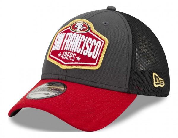 New Era - NFL San Francisco 49ers 2021 Draft 39Thirty Trucker Stretch Cap - Mehrfarbig Ansicht vorne schräg links