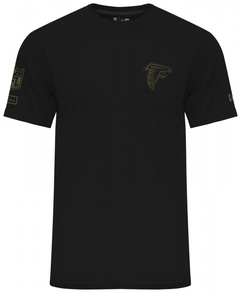 New Era - NFL Atlanta Falcons Camo Collection 2018 T-Shirt - Schwarz ansicht vorderseite