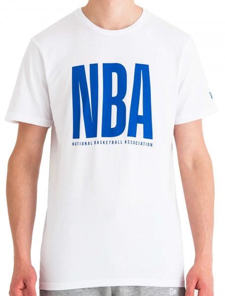 New Era - NBA Wordmark T-Shirt - Weiß Vorderansicht