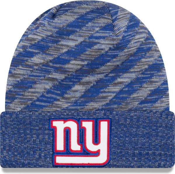 New Era - NFL New York Giants On Field 2018 TD Knit Beanie - Blau-Grau ansicht vorderseite