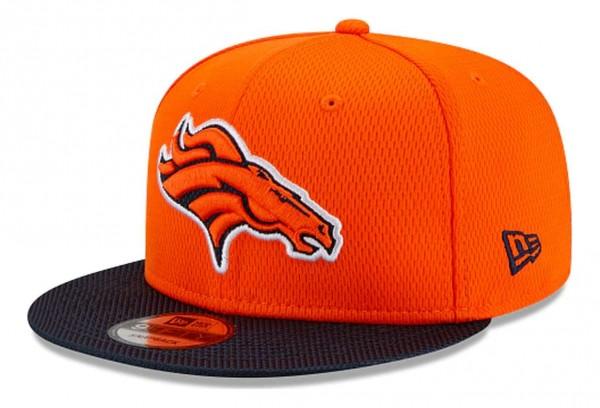 New Era - NFL Denver Broncos 2021 Sideline Road 9Fifty Snapback Cap - Orange Ansicht vorne schräg links