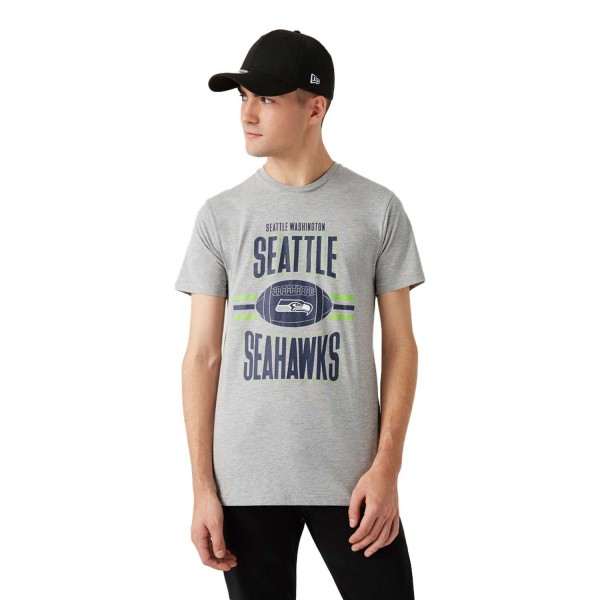 New Era - NFL Seattle Seahawks Football T-Shirt - Grau Vorderansicht
