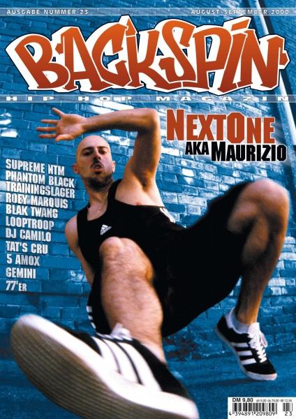 Auf dem Bild ist das Cover zu sehen der BACKSPIN Printausgabe Nummer 23