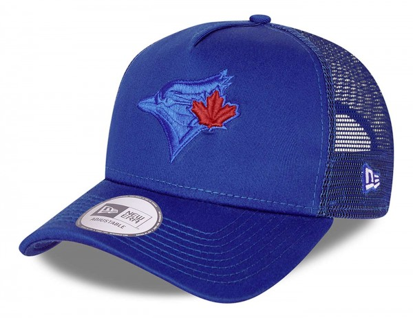 New Era - MLB Toronto Blue Jays Team Elemental Trucker Snapback Cap - Blau Ansicht vorne schräg links