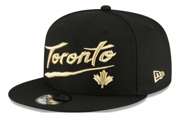 New Era - NBA Toronto Raptors 2020 City Series Official 9Fifty Snapback Cap - Schwarz Ansicht vorne schräg links