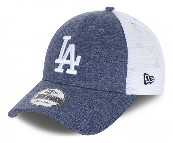 New Era - MLB Los Angeles Dodgers Home Field Trucker 9Forty Snapback Cap - Blau Ansicht vorne schräg links