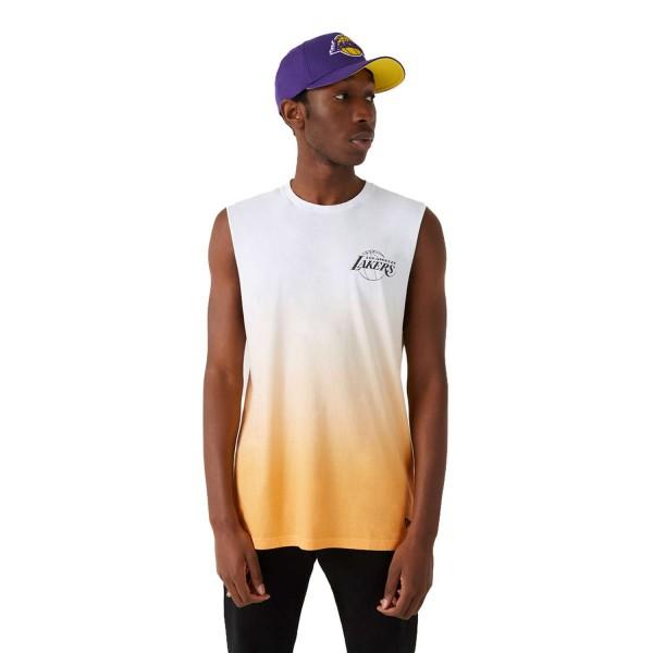 New Era - NBA Los Angeles Lakers Dip Dye Sleeveless T-Shirt - Mehrfarbig Vorderansicht