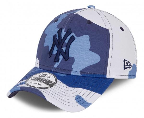 New Era - MLB New York Yankees Camo Pack 9Forty Strapback Cap - Blau Ansicht vorne schräg links