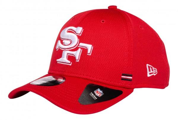 New Era - NFL San Francisco 49ers OnField 2020 Sideline Home 39Thirty Stretch Cap - Rot Ansicht vorne schräg links