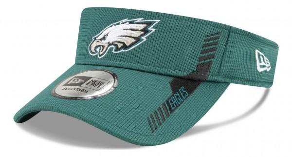 New Era - NFL Philadelphia Eagles 2021 Sideline Home Visor - Grün Ansicht vorne schräg links