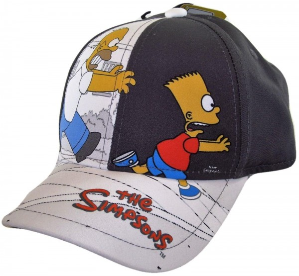 The Simpsons - Bart & Homer Kids Snapback Cap - Schwarz