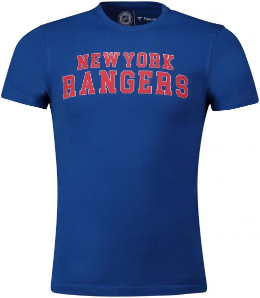 Fanatics - NHL New York Rangers Graphic Wordmark T-Shirt - Blau Vorderansicht