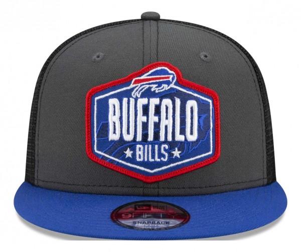 New Era - NFL Buffalo Bills 2021 Draft 9Fifty Trucker Snapback Cap - Mehrfarbig Vorderansicht