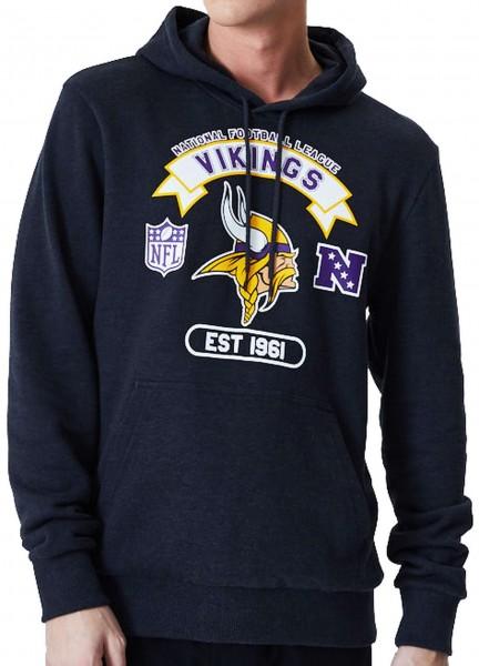 New Era - NFL Minnesota Vikings Graphic PO Hoodie - Grau Vorderansicht