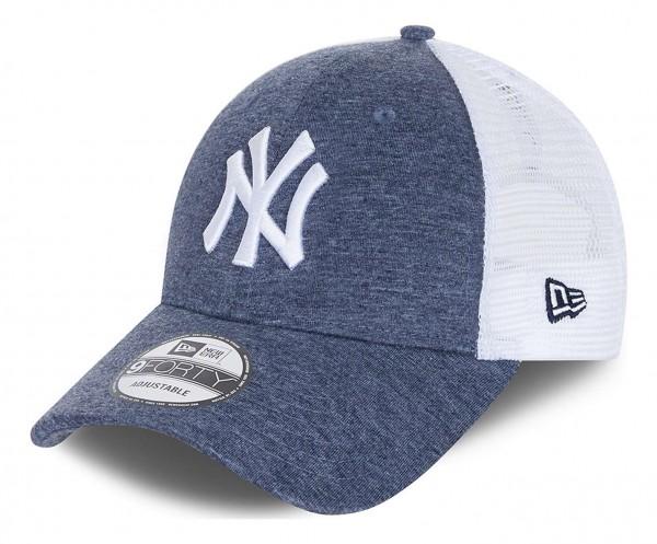 New Era - MLB New York Yankees Home Field Trucker 9Forty Snapback Cap - Blau Ansicht vorne schräg links