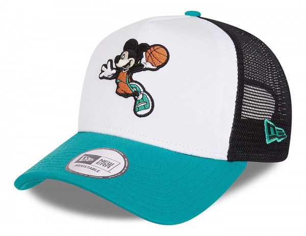 New Era - Disney Mickey Mouse Character Sports 9Forty Trucker Snapback Cap - Mehrfarbig Ansicht vorne schräg links