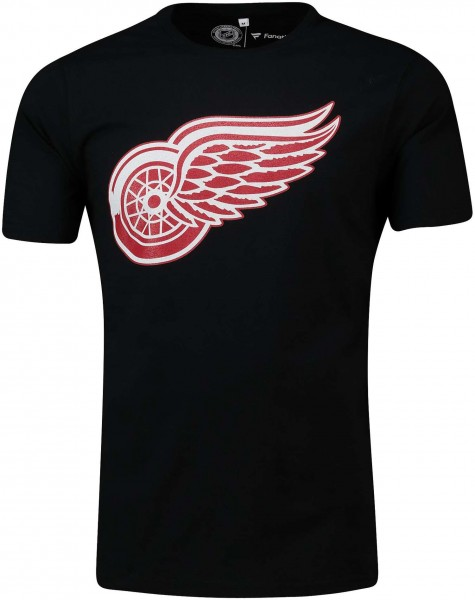 Fanatics - NHL Detroit Red Wings Secondary Core Graphic T-Shirt - Schwarz Vorderansicht