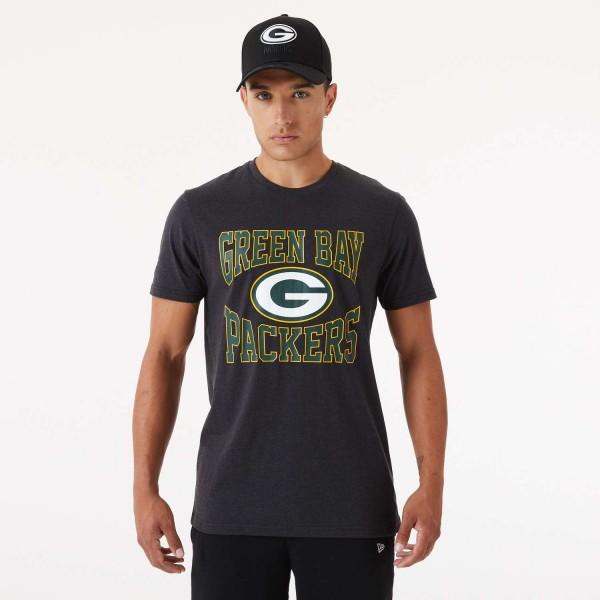 New Era - NFL Green Bay Packers Team Logo T-Shirt - Grau Vorderansicht