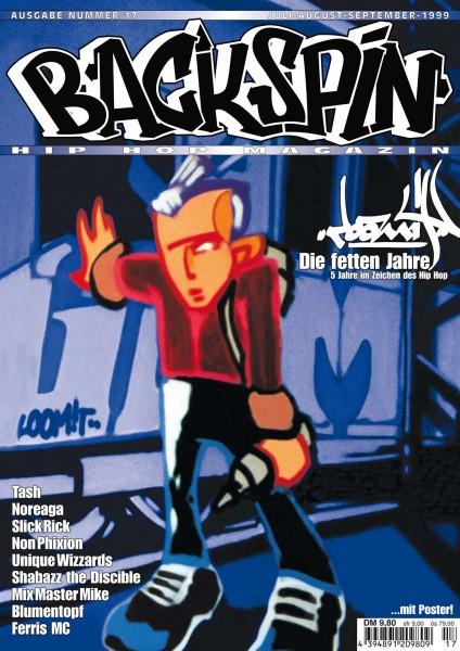 Auf dem Bild ist das Cover zu sehen der BACKSPIN Printausgabe Nummer 17