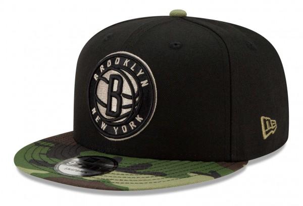 New Era - NBA Brooklyn Nets ASG Camo 9Fifty Snapback Cap - Schwarz Ansicht vorne schräg rechts