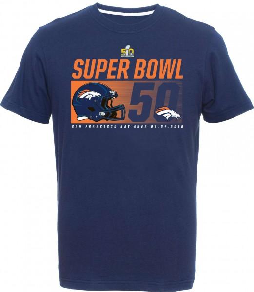 Majestic Athletic - Denver Broncos Winner Super Bowl 50 T-Shirt - Blau