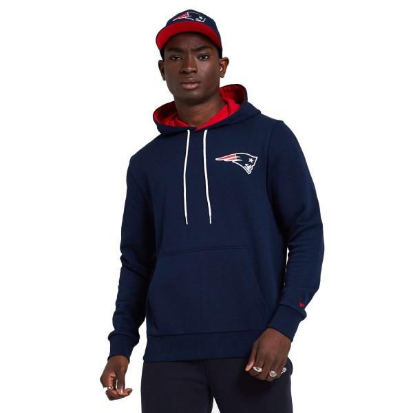 New Era - NFL New England Patriots Chest Print Team Logo Hoodie - Blau Vorderansicht