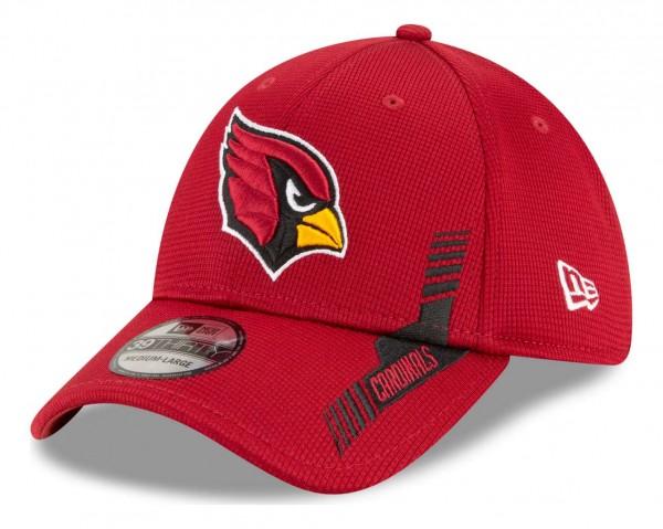New Era - NFL Arizona Cardinals 2021 Sideline Home 39Thirty Stretch Cap - Rot Ansicht vorne schräg links