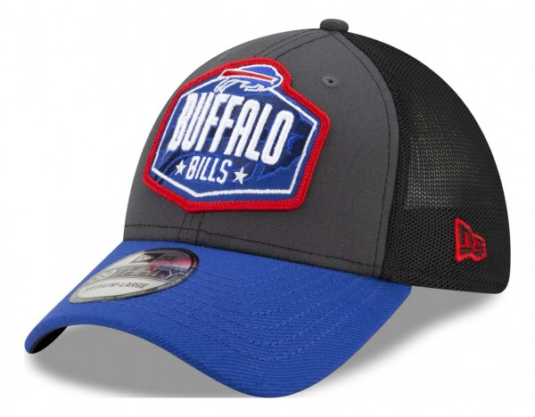 New Era - NFL Buffalo Bills 2021 Draft 39Thirty Trucker Stretch Cap - Mehrfarbig Ansicht vorne schräg links