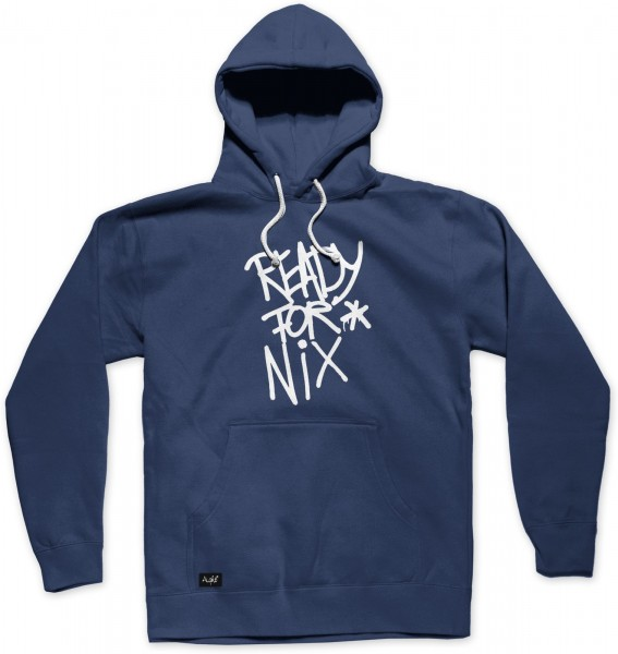 Aight* Ready for Nix Tag Hoodie - Navy Ansicht Vorderseite