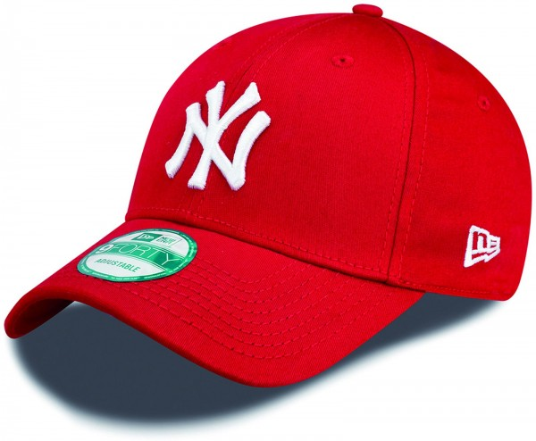 New Era - MLB New York Yankees Essential 9Forty Cap - Rot-Weiß