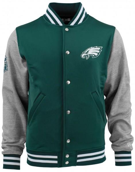 New Era - NFL Philadelphia Eagles Varsity Jacke - Grau Vorderansicht