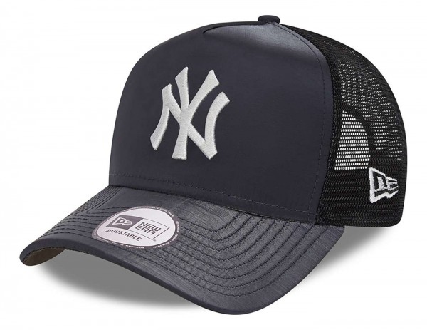 New Era - MLB New York Yankees Hypertone Trucker Snapback Cap - Schwarz Ansicht vorne schräg links
