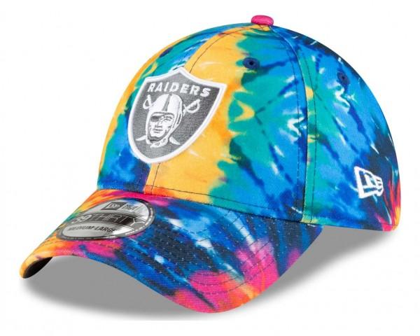 New Era - NFL Las Vegas Raiders 2020 Crucial Catch 39Thirty Stretch Cap - Mehrfarbig Anischt vorne schräg links