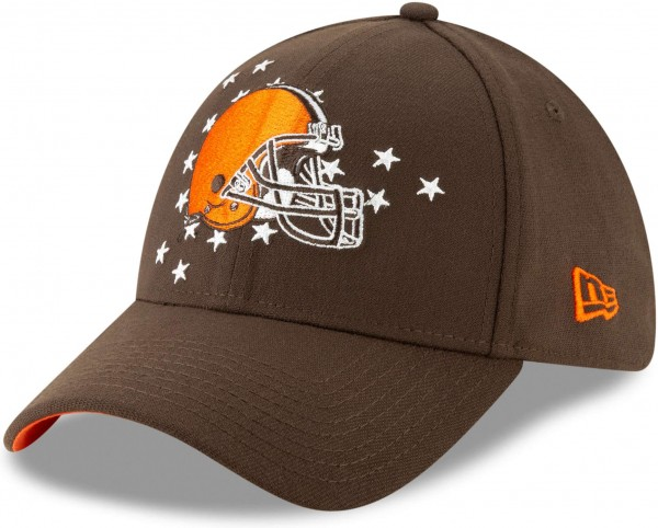 New Era - NFL Cleveland Browns Draft 2019 On-Stage 39Thirty Stretch Cap - Braun Ansicht schräg links