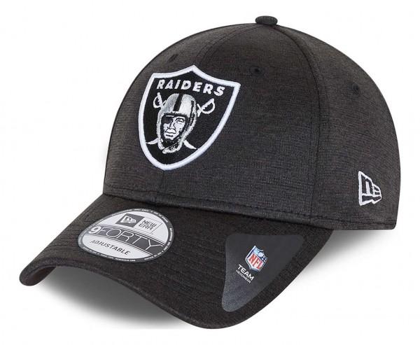 New Era - NFL Las Vegas Raiders Shadow Tech 9Forty Strapback Cap - Grau Ansicht vorne schräg links