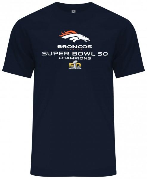 Majestic Athletic - NFL Denver Broncos Superbowl 50 Champions T-Shirt - Blau