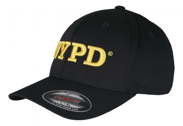 Mister Tee - NYPD Flexfit Stretch Cap - Schwarz Ansicht vorne schräg links