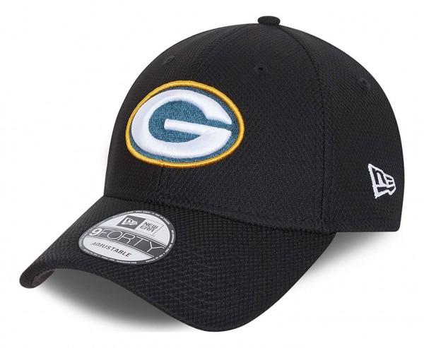 New Era - NFL Green Bay Packers Diamond Era 9Forty Strapback Cap - Schwarz Ansicht vorne schräg links