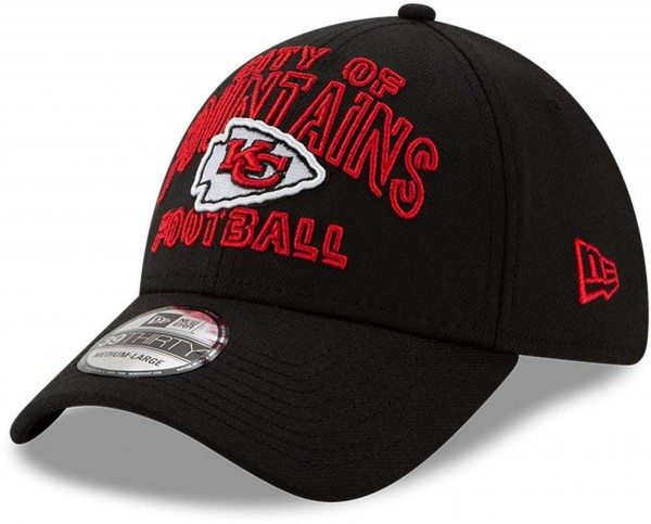 New Era - NFL Kansas City Chiefs 2020 Draft Alternative 39Thirty Stretch Cap - Schwarz Ansicht vorne schräg links