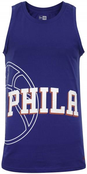 New Era - NBA Philadelphia 76ers Basketball Graphic Tank Top - Blau