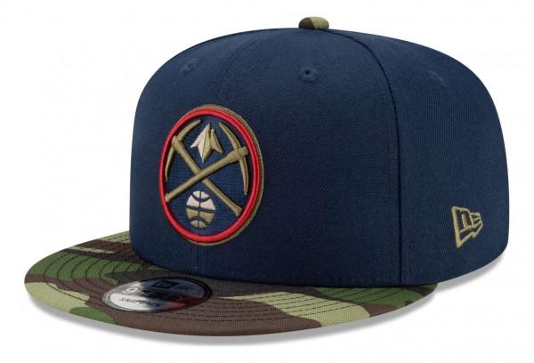 New Era - NBA Denver Nuggets ASG Camo 9Fifty Snapback Cap - Blau Ansicht vorne schräg rechts